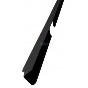 Съединителна лайсна право/криво за плот 38 мм, черна