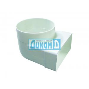 Коляно плоско-кръгло за плосък ПВЦ въздуховод