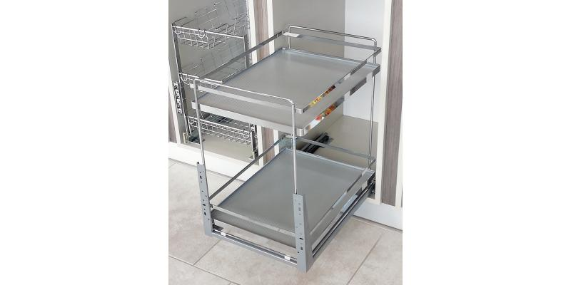 Retractable kitchen baskets for cabinet 300, 350, 400, 500, 600 mm