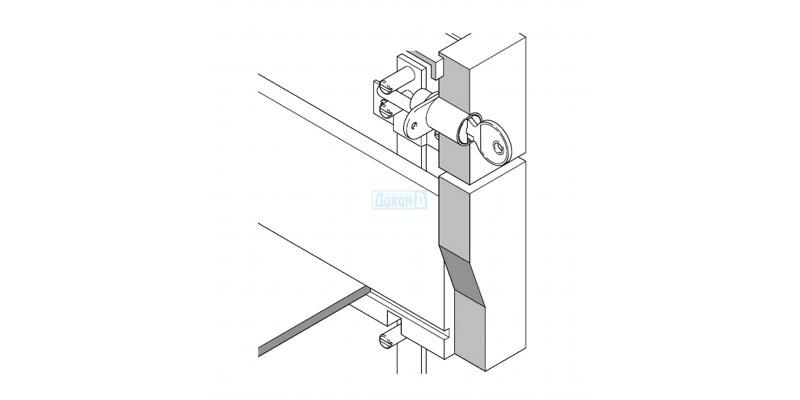 Central lock for drawers