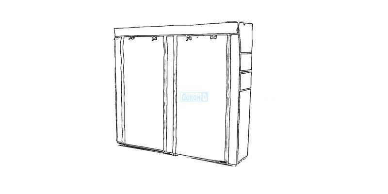 Wardrobe and interior door systems, edging handles