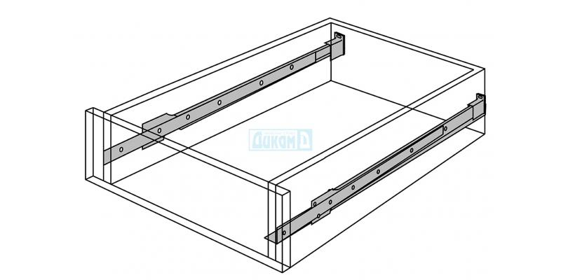 Furniture sliders and metal pages for drawer