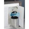 Кухненска кофа за вграждане, неръждаема хромирана обшивка, 12 литра