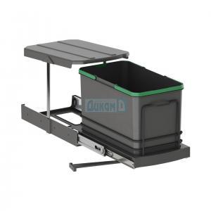 Кухненска кофа за шкаф изтегляща антрацит - ниска