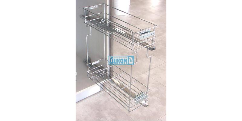 Изтеглящи механизми за бутилки за шкаф 150 мм