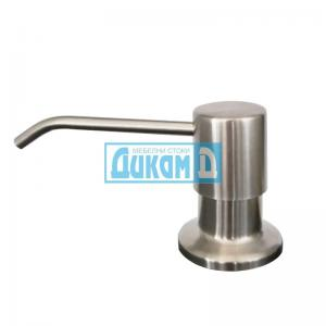 Дозатор за течен сапун и веро, за вграждане, матирана глава сатен