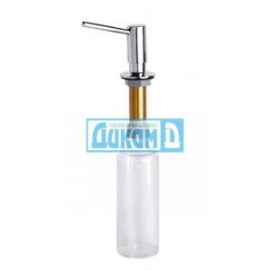 Дозатор за течен сапун и веро, за вграждане, с месингова глава