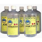 Adhesives, silicones, acetone and thinners