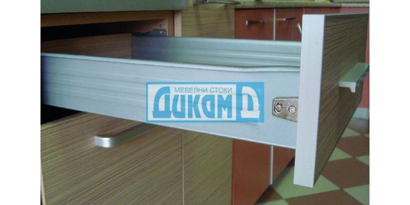 Метални страници за чекмедже с плавно затваряне