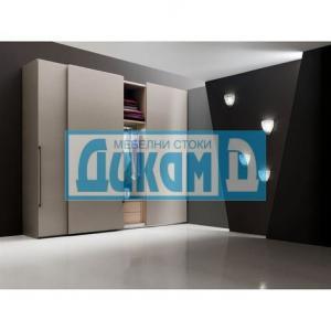 Плъзгаща система за гардероб CINETTO с горно водене алуминий