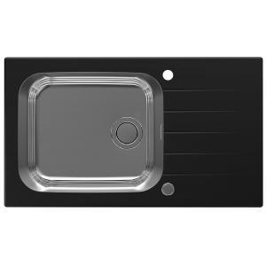 Кухненска мивка Гласикс ъп 40, Черна, за шкаф 60 см